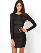 ASOS sukienka mini mała czarna zamek 34 xs