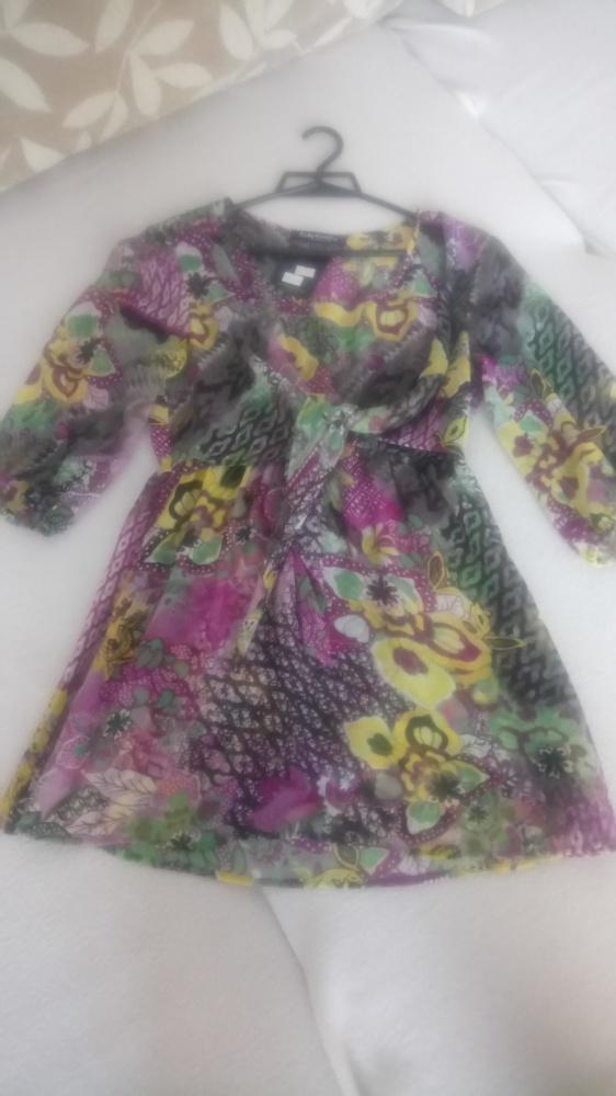 nowa mgiełka na stroj kapielowy sukienka xs s...