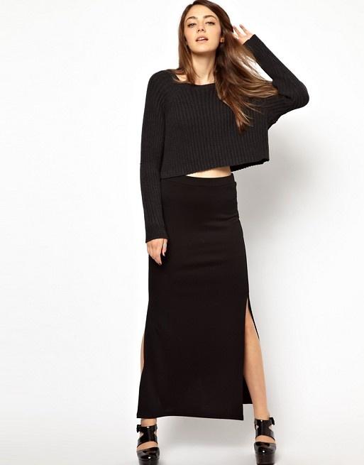 Nowa maxi czarna spódnica...