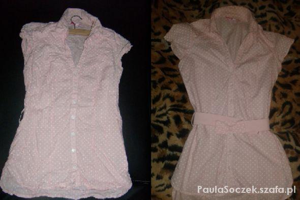 różowa bluzeczka w groszki Tally Weijl...