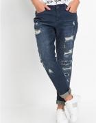 Bon prix spodnie jeansy boyfriend jak nowe duże 46