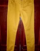 Musztardowe brązowe spodnie zip