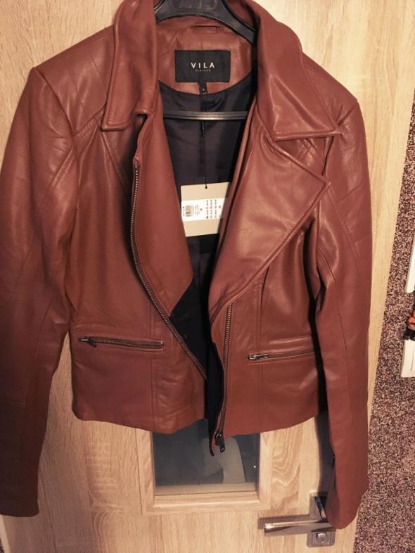 Odzież wierzchnia Promocja kurtka ze skóry naturalnej VILA