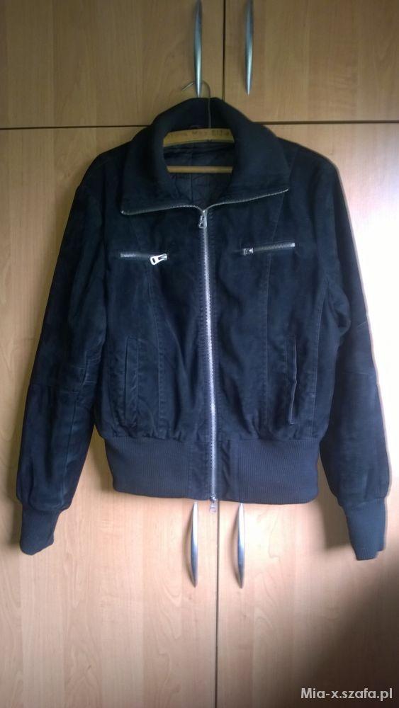 Odzież wierzchnia Czarna jesienna krótka kurtka rozmiar 4244