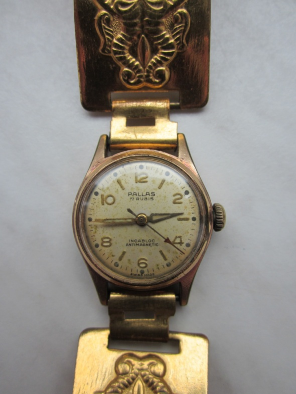 Antyczny zegarek Pallas 17 Rubis GOLDFILLED