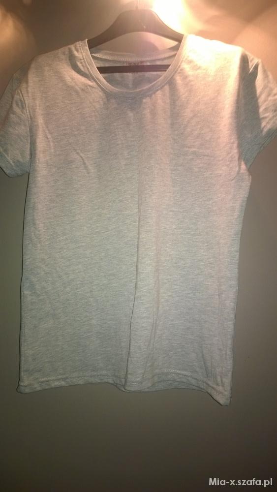 T-shirt Szary tshirt rozmiar 44