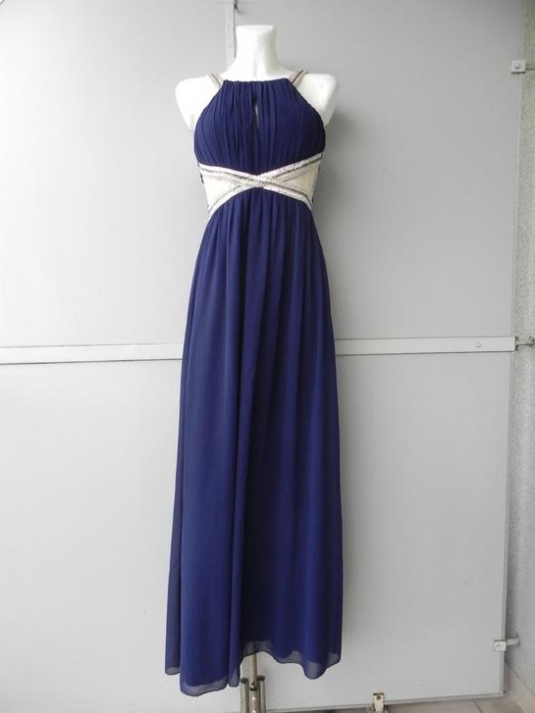 Little Mistres granatowa sukienka maxi 40 12