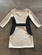 sukienka z ortalionowymi wstawkami
