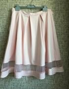 sliczna spodnica midi w kolorze pudrowego rozu...