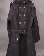 Czarny przejściowy dwurzędowy płaszcz Japanstyle
