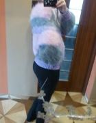 Nowy puszysty ciepły sweter m l