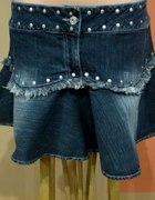 Spódniczka jeansowa country xl