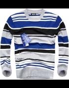 nowy sweter męski w paski