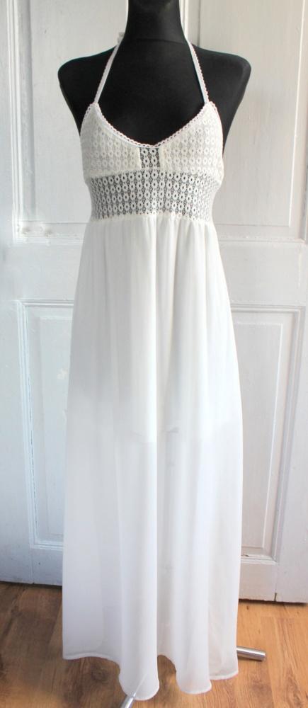 cc7edf0c81 Długa biała sukienka letnia plażowa r LXL w Suknie i sukienki - Szafa.pl