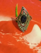 Srebrny pierścionek noc kairu z cyrkoniami