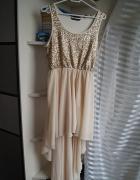Cekinowa sukienka z dłuższym tyłem Miso M...