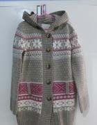Śliczny dłuższy sweterek Reserved rozm 128...