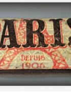 Etui na okulary Paris Decoupage