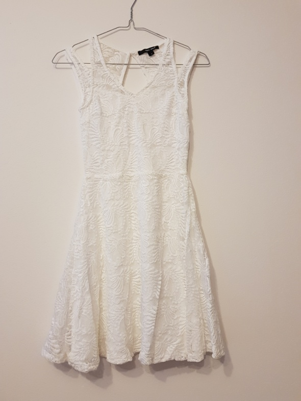 Biała sukienka Koronkowa S...