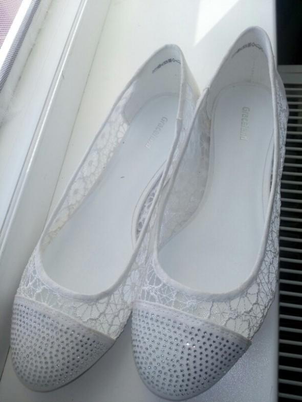 Białe balerinki Graceland rozmiar 40 nowe...