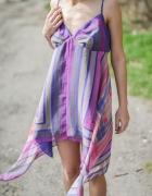Sukienka asymetryczna chusta