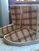 Buty Bambosze w kratkę