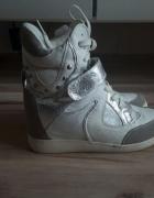 sneakersy sportowe buty na koturnie 39...