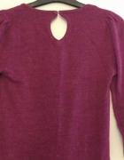 Amarantowa sukienka tunika w rozmiarze 36...