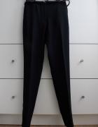 Mango Nowe czarne cygaretki spodnie w kant wysoki stan