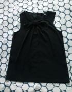 Czarna bluzka z kokardką