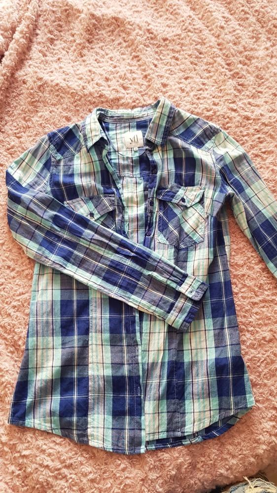 Koszula w niebieska krate