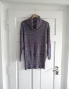 sweter sukienka z golfem S M