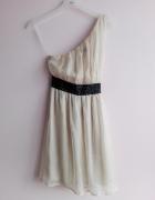 szyfonowa sukienka na jedno ramię Miso 38...