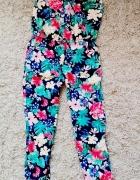 kombinezon lato floral kolorowy 128 8years HM