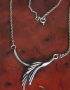 Stary srebrny naszyjnik liść