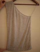 Szara koszulka na jedno ramię Cross rozmiar L