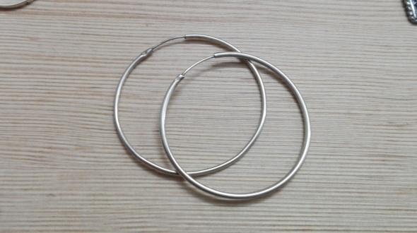 Kolczyki srebrne kolczyki koła 46 mm
