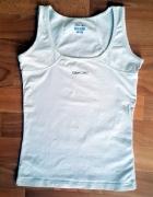 Biały top Reebok XS na fitness