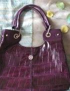Piękna lakierowana pojemna torebka