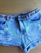 Jeansowe modne spodenki