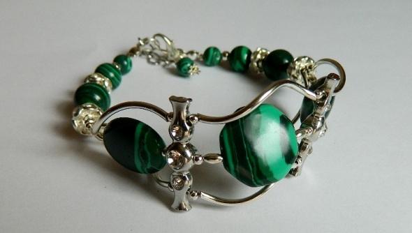 Bransoletki Malachit zielony efektowna bransoletka
