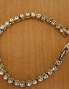bransoletka srebrna z cyrkonii