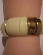 bransoletka ecru ze złotym