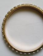 bransoletka złote koło z cyrkonii