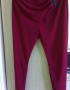 nowe spodnie rurki materiał 36 38 bordowe rainbow