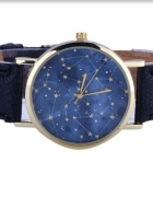 zegarek na pasku UNIKAT niebo pełne gwiazd black