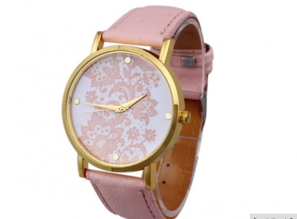 Zegarki pudrowy zegarek ażurowa tarcza London Watches NEW