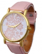 pudrowy zegarek ażurowa tarcza London Watches NEW