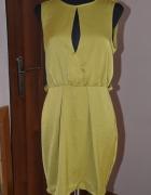 Oliwkowa sukienka przed kolano ASOS