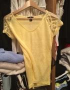 Żółta bluzeczka koronka H&M xs